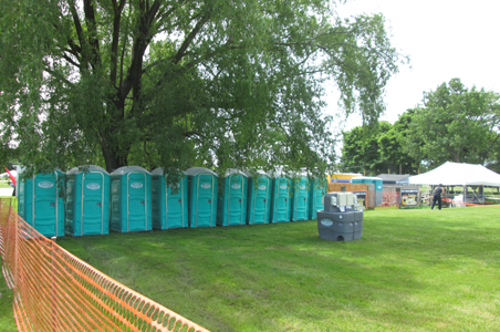 North Coast Sanitation portable units being used at a picnic in Girard, PA.