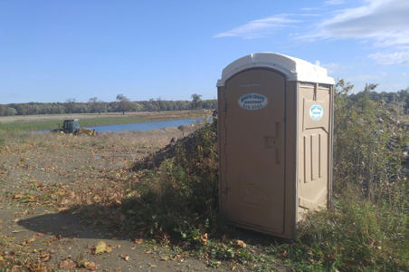 We provided this portable toilet unit to a local building and construction company who was building a new home in Erie County.  It saved them time and money by keeping their laborers on site.
