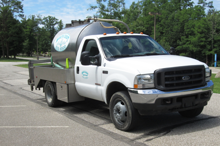 Our fleet delivering exceptionally clean rental units prior to pumping out and cleaning additional on-site rented portable toilets.  Hand sanitizer and toilet paper were restocked.