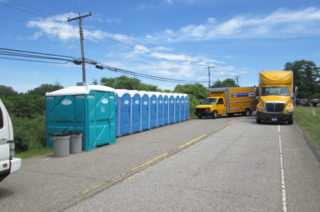 The Presque Isle Partnership rented these units including handicap accessible porta potties and portable handwashing sinks for the Discover Presque Isle Days.  For best results for larger special events, please call as early as possible.